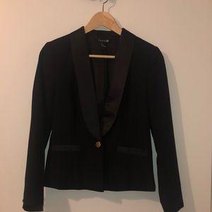 Forever 21 Tuxedo Black Blazer with gold hardware